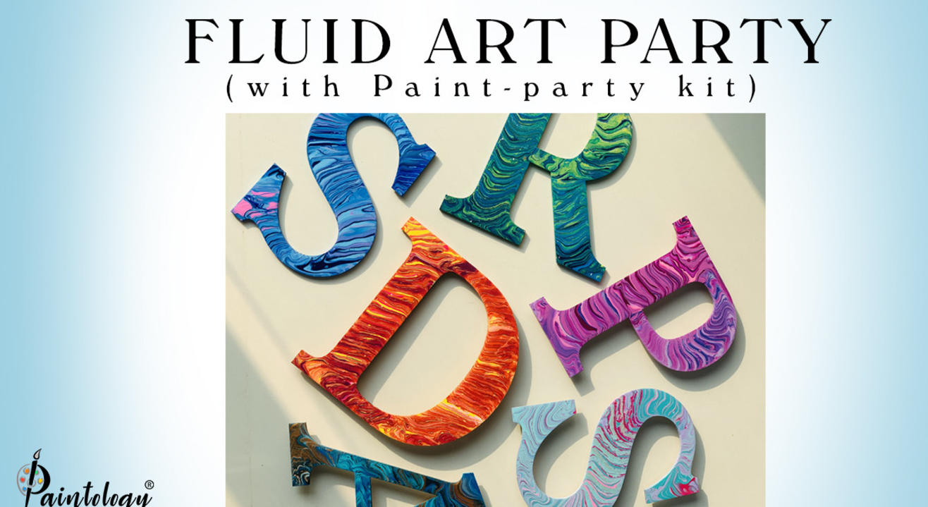 31st Jan – Fluid art party with kit