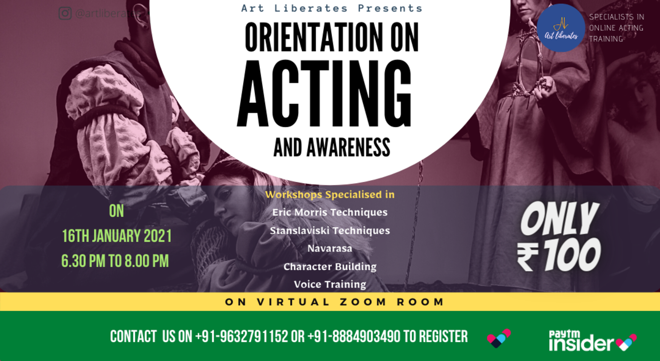 Acting Orientation By Art Liberates on Weekend