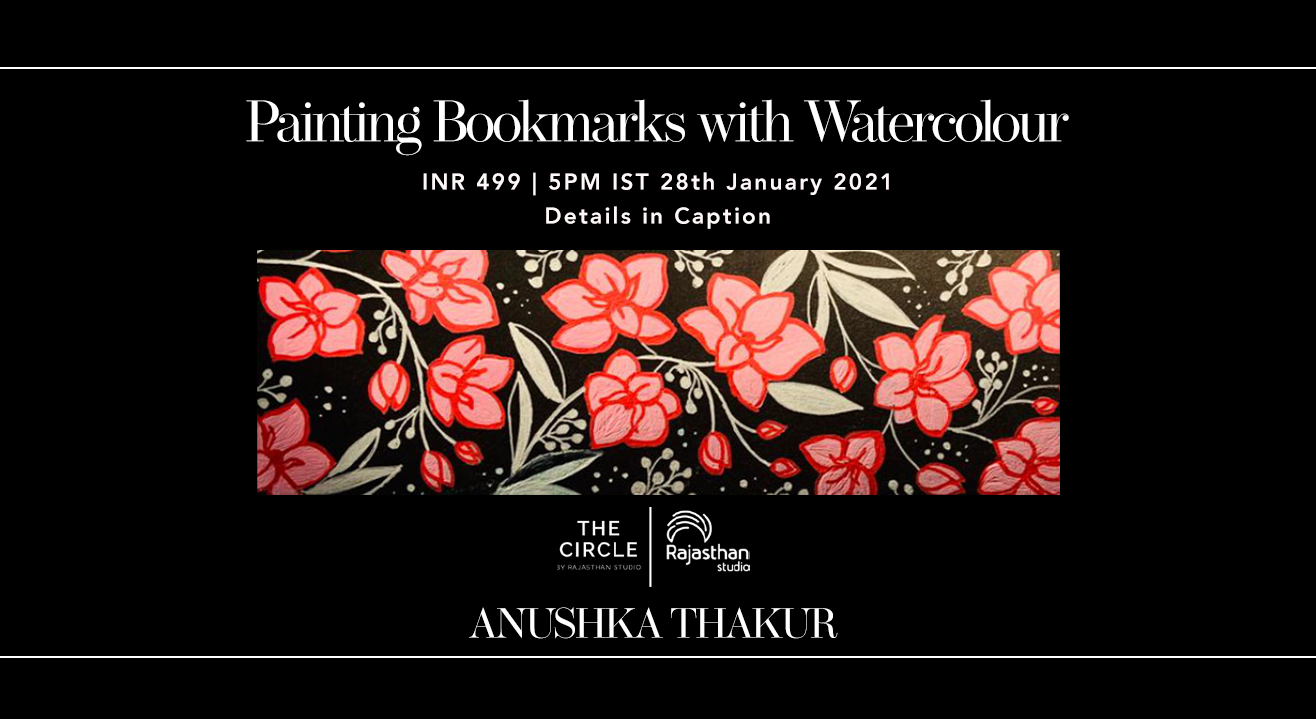 Painting Bookmarks with  Watercolour Workshop by Rajasthan Studio