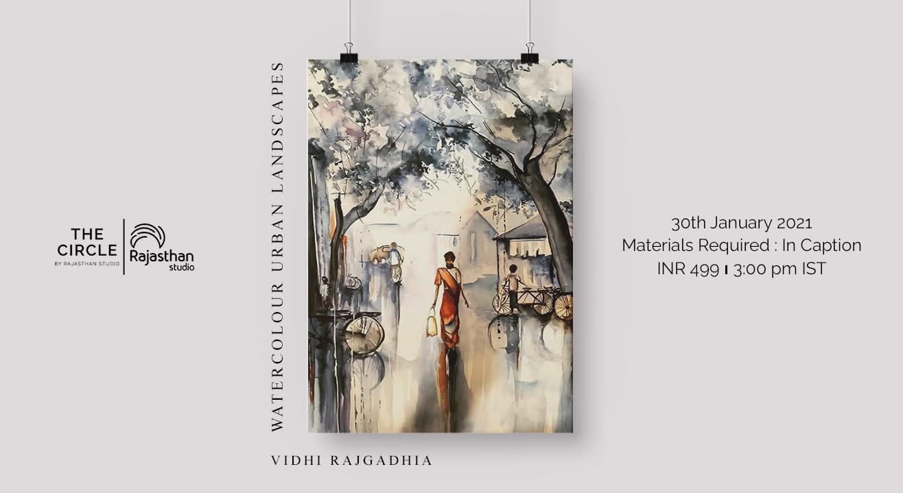 Watercolour Urban Landscapes Workshop by Rajasthan Studio
