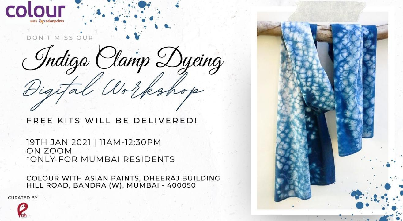 Indigo Clamp Dyeing Free Online Workshop