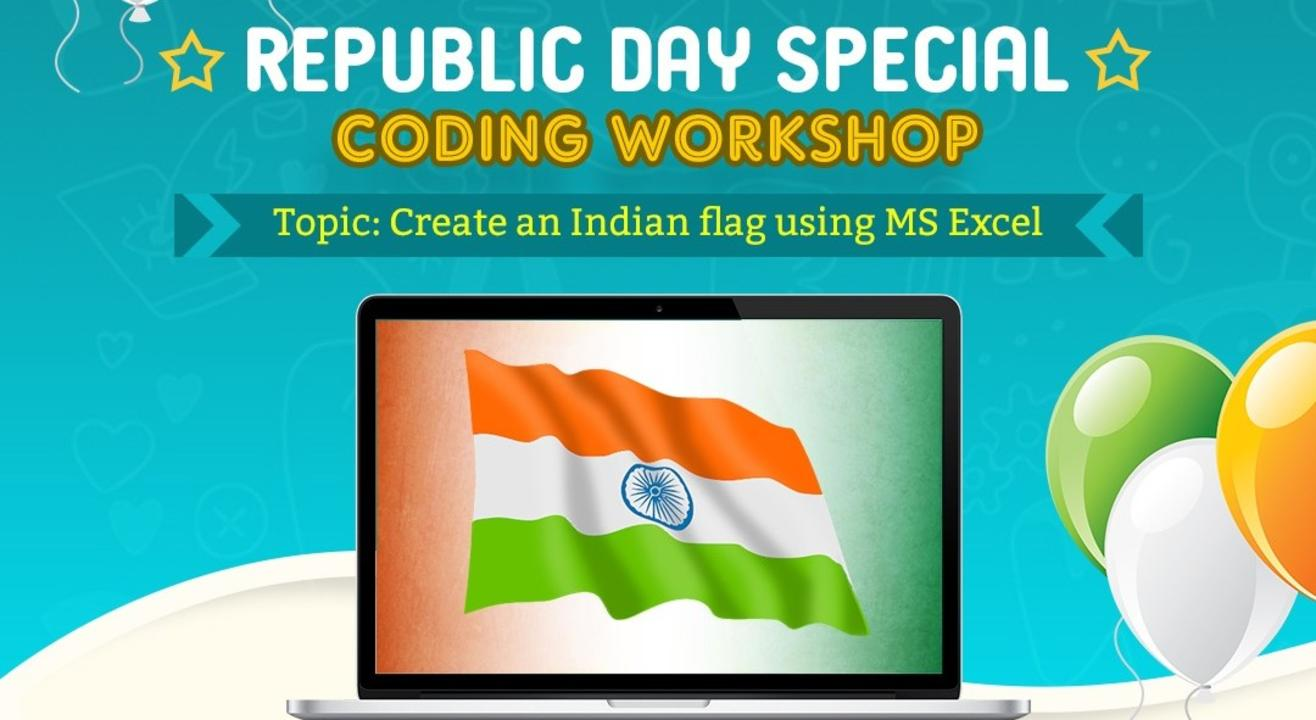 Create an Indian Flag using MS-Excel