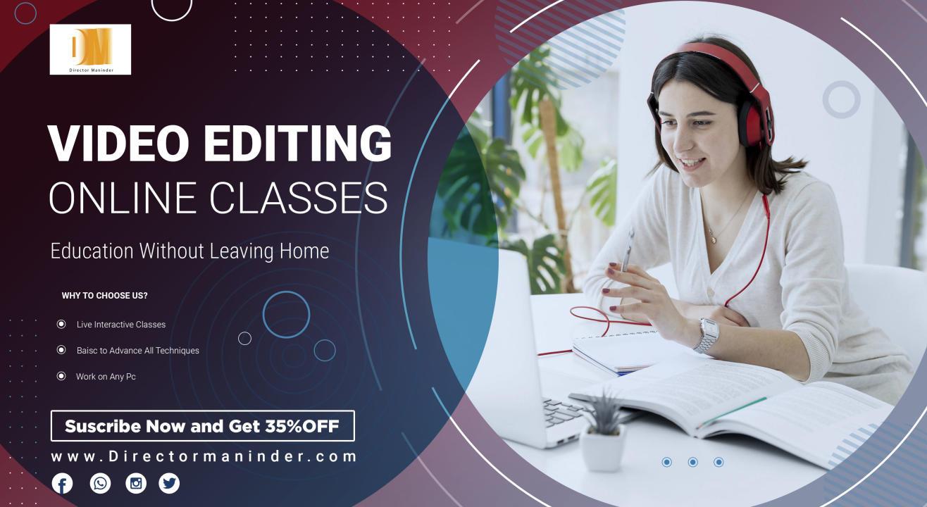 Professional Video Editing  Classes