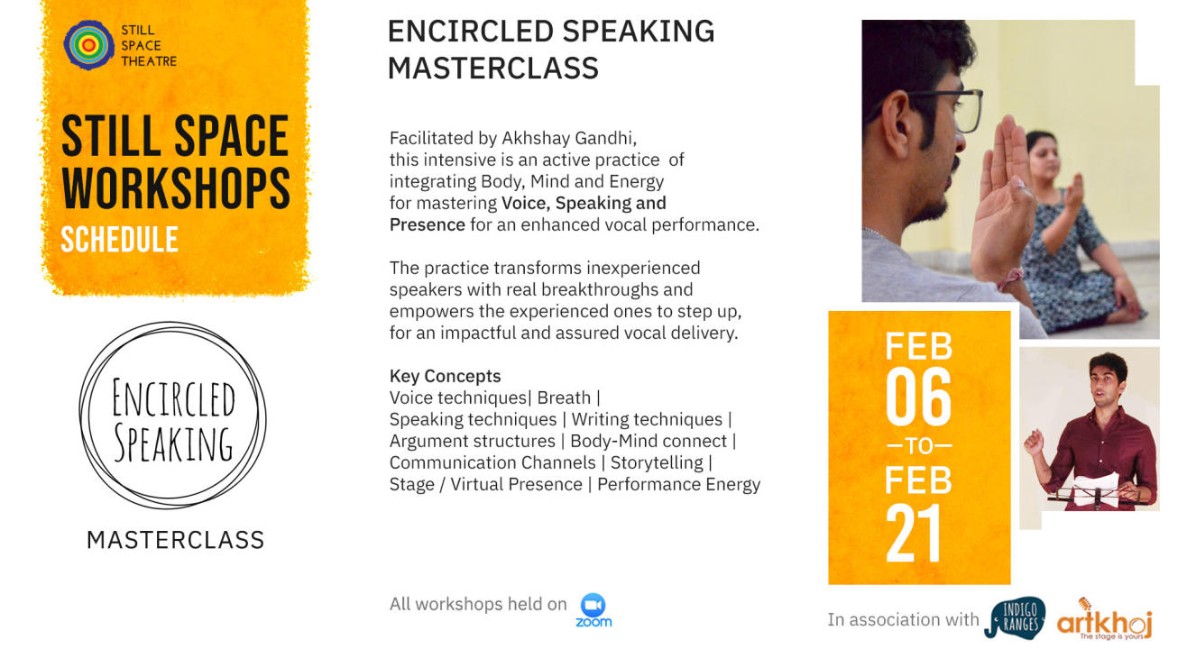 Encircled Speaking Masterclass - An Online Workshop