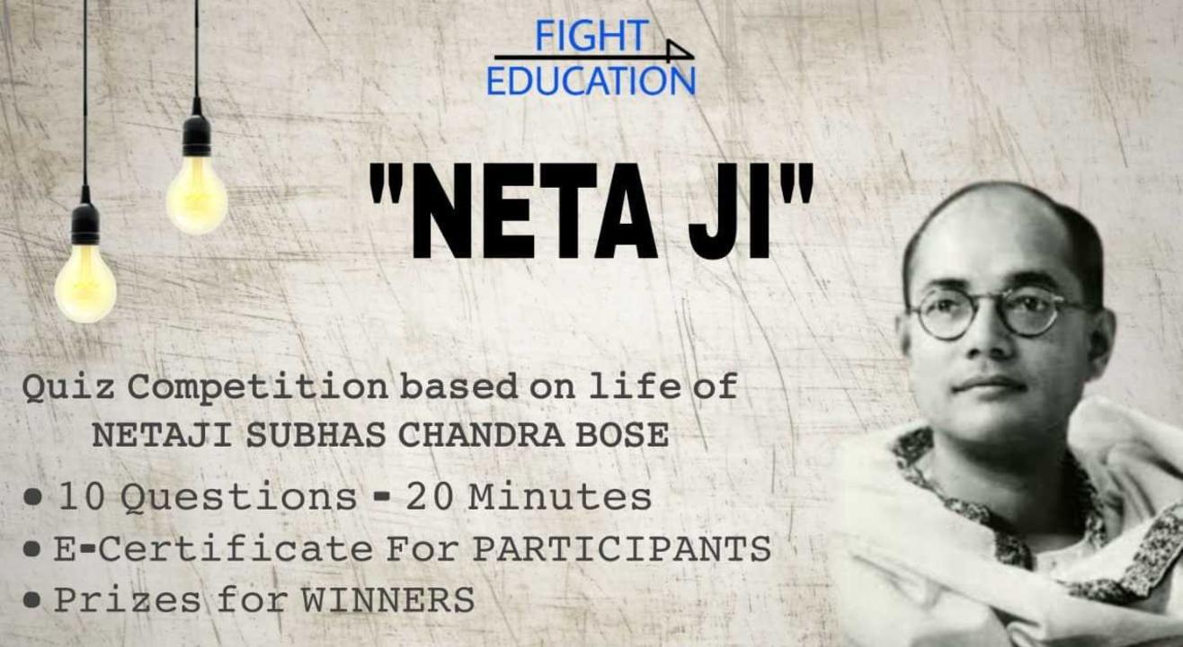 NETA JI - Quiz Competition