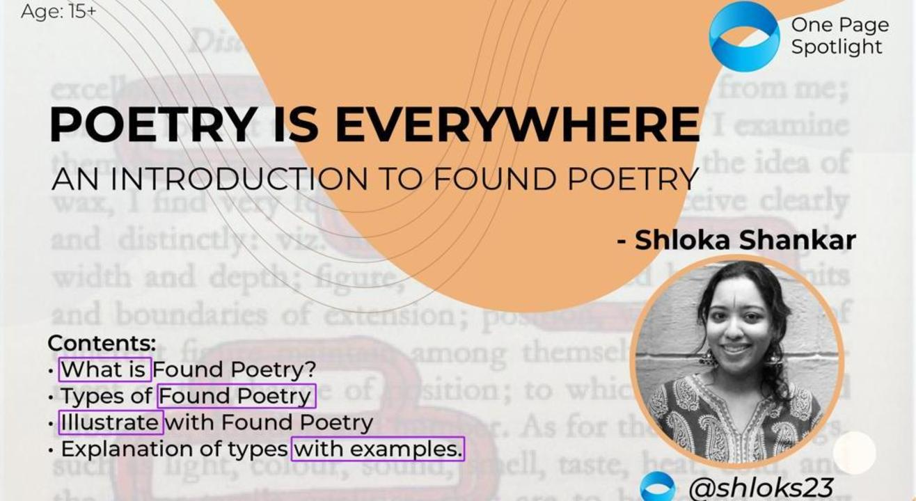 Introduction to Found Poetry- A One Page Spotlight Workshop