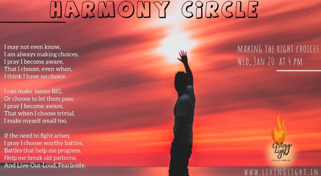 Harmony Circle - Making the right choices