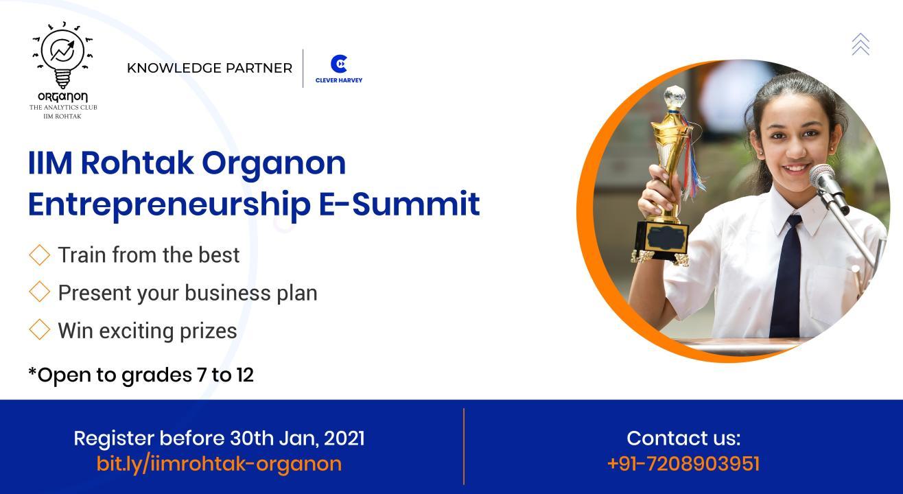 IIM-Rohtak Organon Entrepreneurship E-Summit