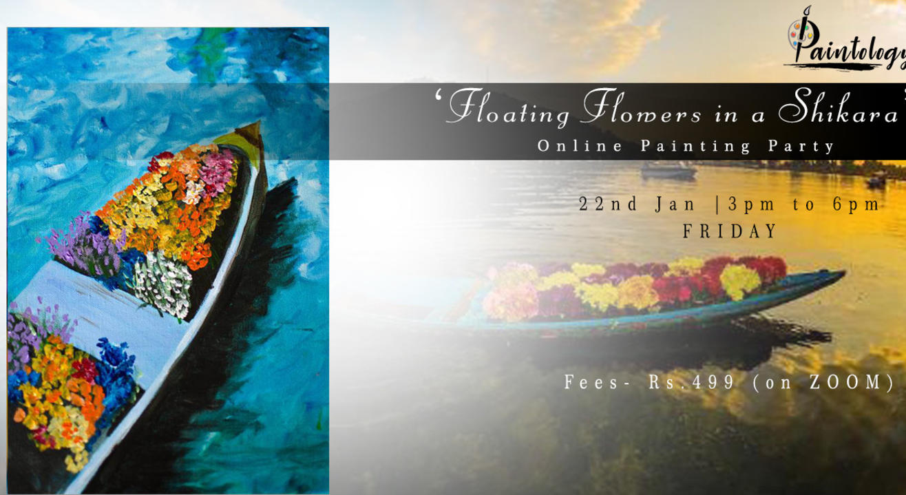 'Floating Flowers in the Shikara' Painting Party