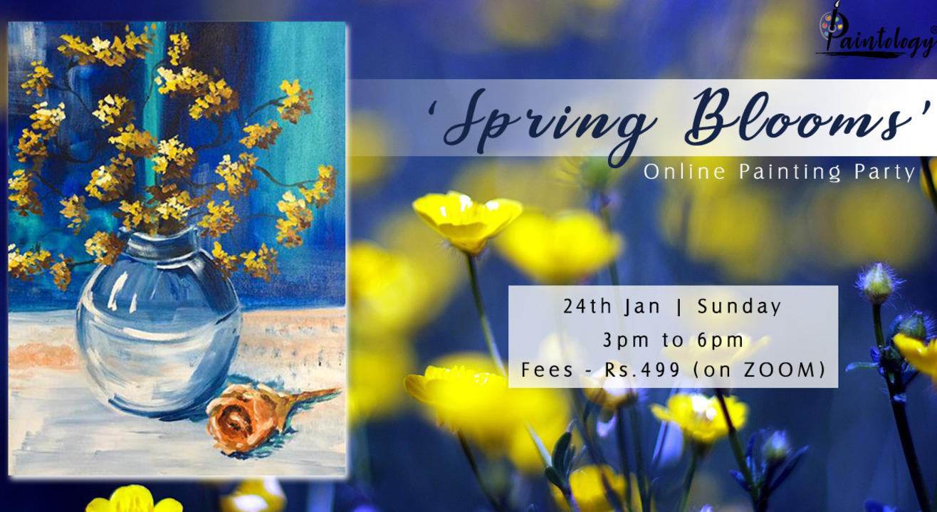 'Spring Blooms' Painting Party by paintology