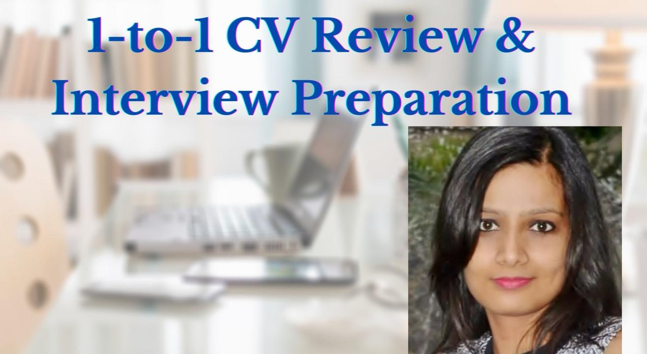 1-to-1 CV Review & Interview Preparation Session by a group of IIT and IIM alumni team
