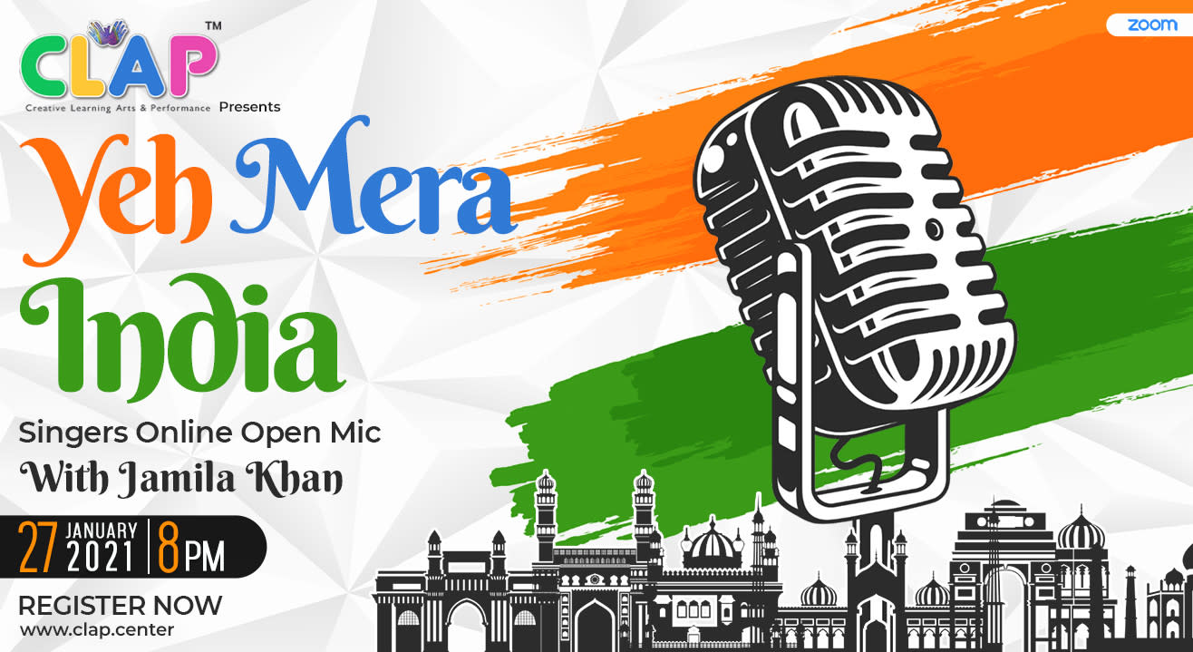 Yeh Mera India - Singers Online Open Mic hosted by Jamila Khan