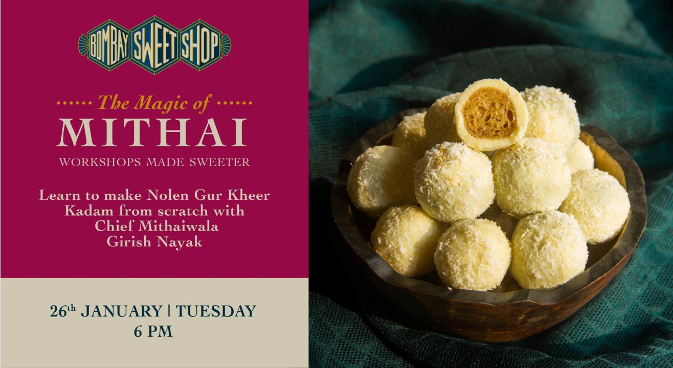 Learn how to make Nolen Gur Kheer Kadam with Chef Girish Nayak!