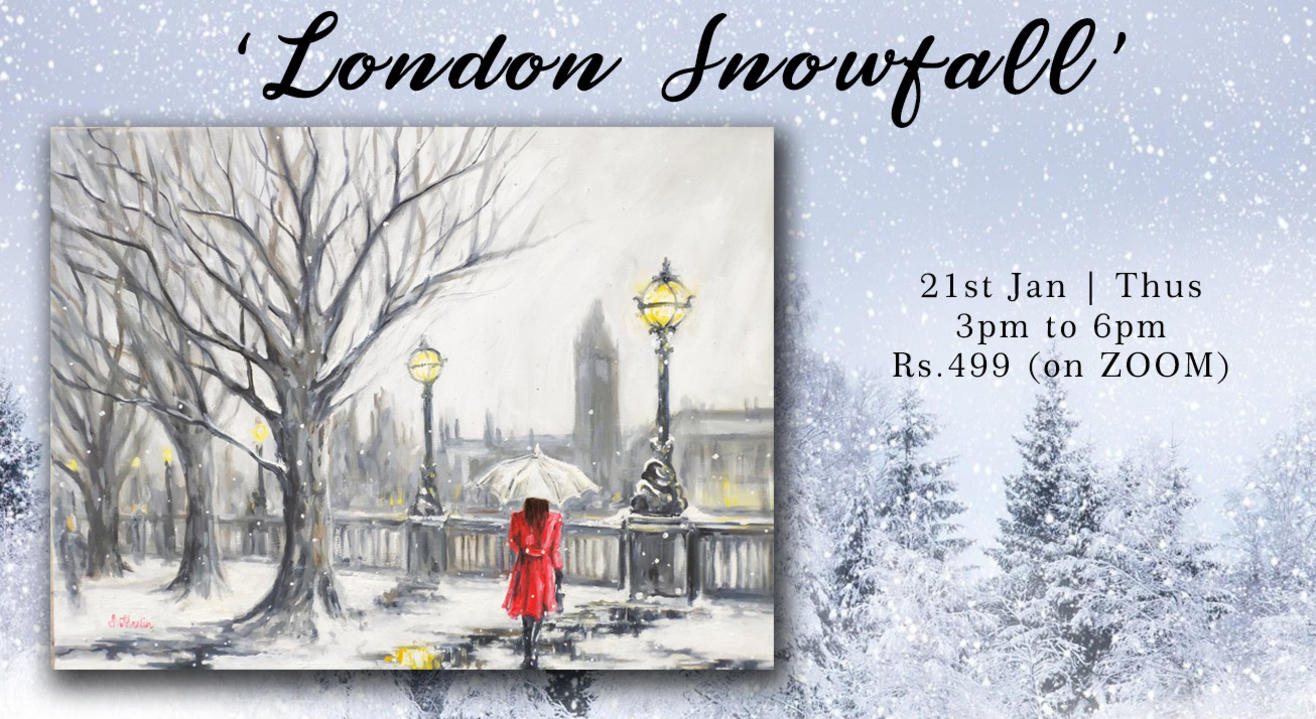 'London Snowfall'Painting Party Paintology