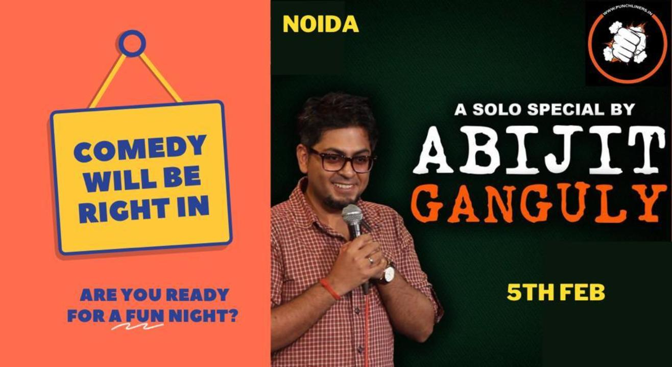 Punchliners Comedy Show ft Abijit Ganguly in NOIDA