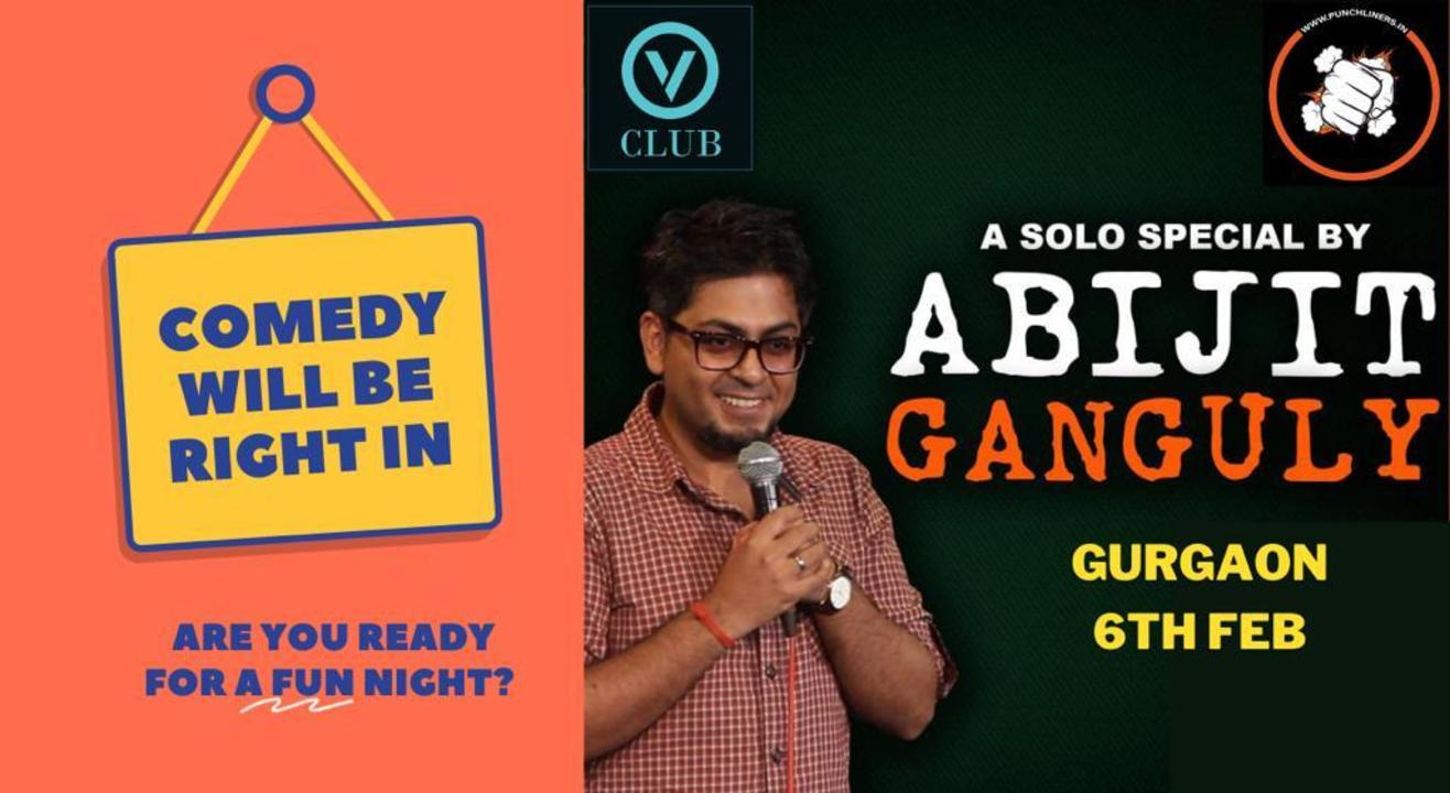 Punchliners Comedy Show ft Abijit Ganguly in Gurgaon