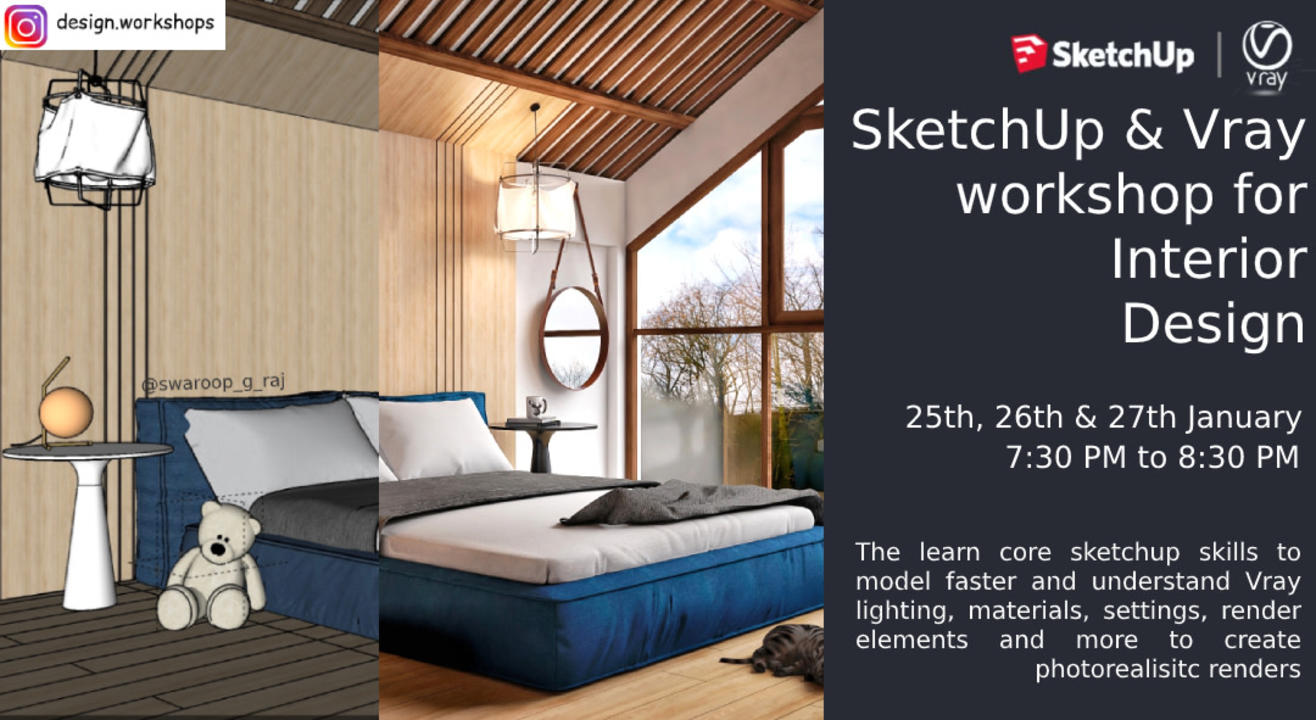SketchUp and Vray workshop for Interior Design
