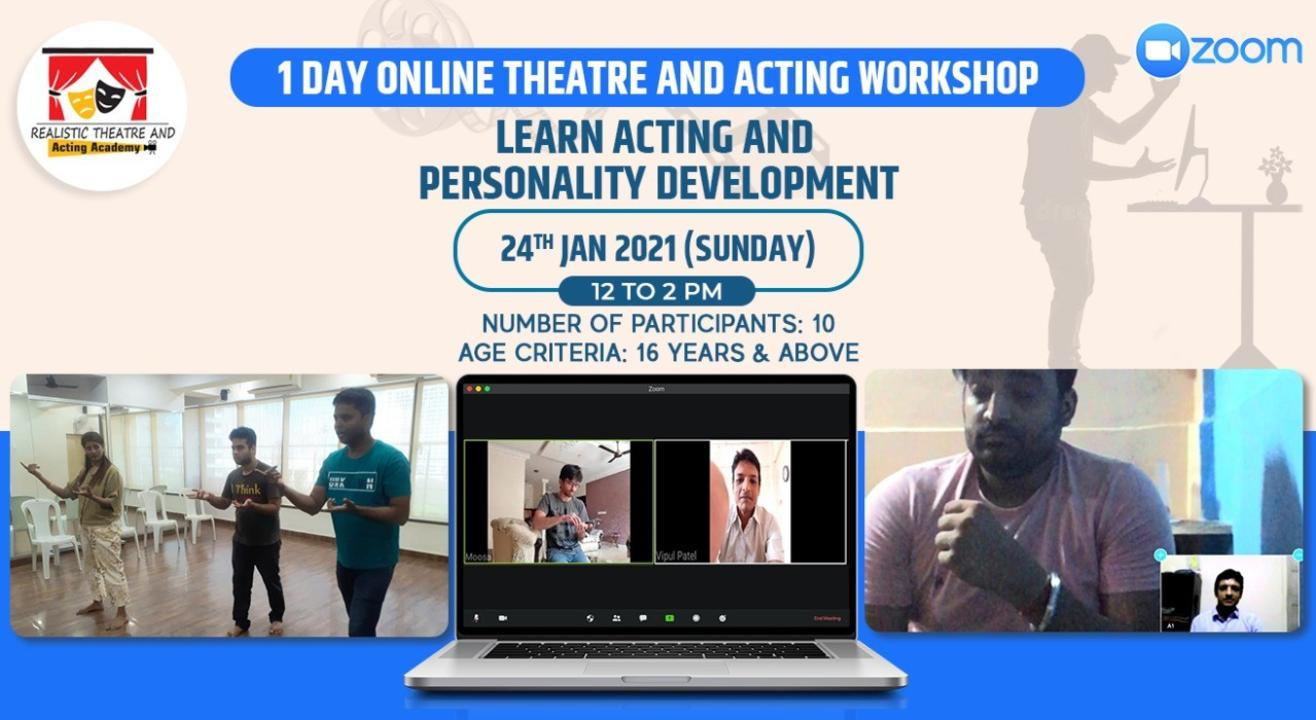 1 Day Online Theatre and Acting Workshop