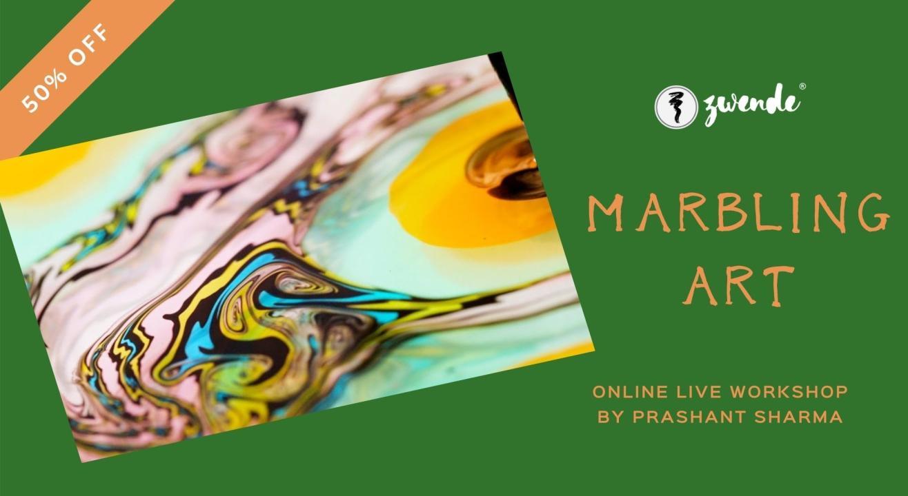 Marbling Art [Online Live Workshop - Inclusive of materials]
