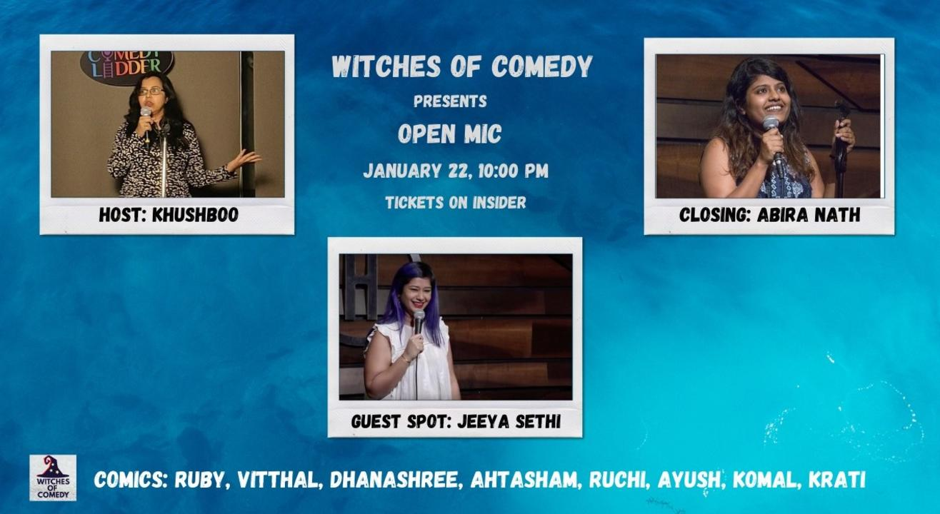 Witches of Comedy: Open Mic - 22/01/2021