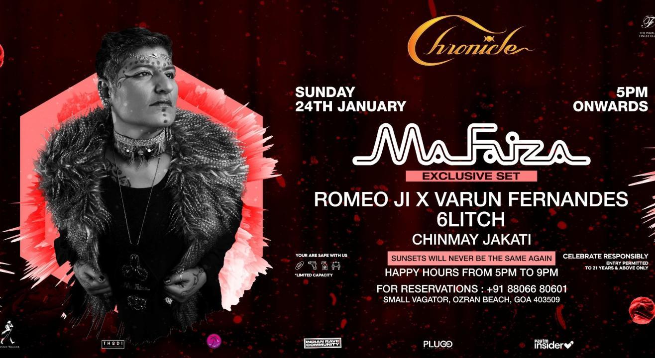Chronicle Presents MaFaiza Exclusive Set  & Romeo Ji b2b Varun Fernandes