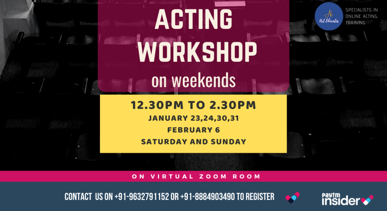 Acting Workshop On weekend By Art Liberates