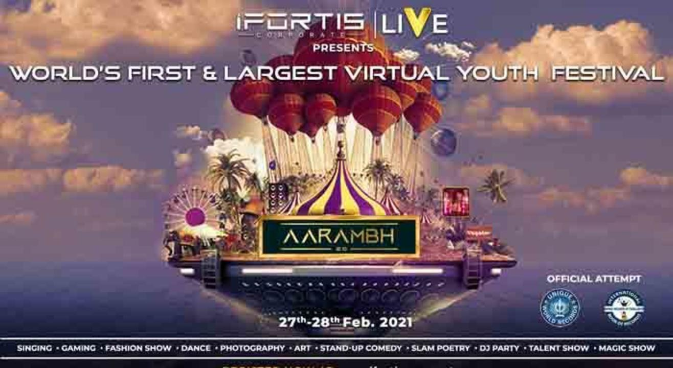 AARAMBH 2.0 | WORLD'S FIRST & LARGEST VIRTUAL YOUTH FESTIVAL by IFORTIS CORPORATE