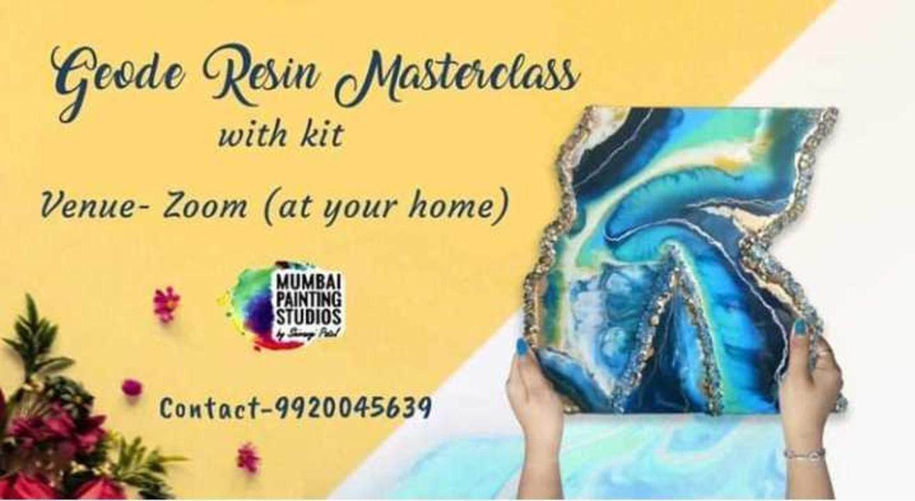 Geode Resin Masterclass with Mumbai Painting Studios