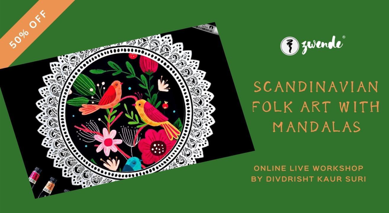 Scandinavian Folk Art with Mandalas [Online Live Workshop]