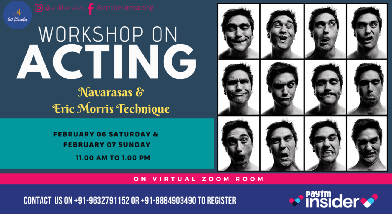 Navarasa & Eric Morris Online Acting Workshop-Art Liberates