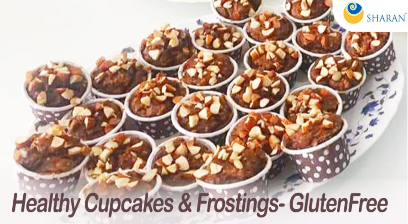 Healthy Cupcakes & Frostings- Gluten Free