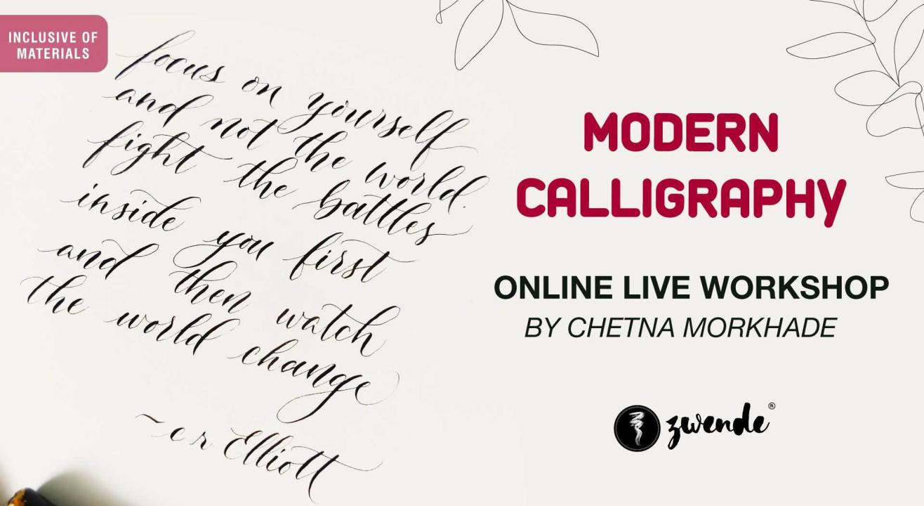 Modern Calligraphy [Online Live Workshop - Inclusive of Materials]