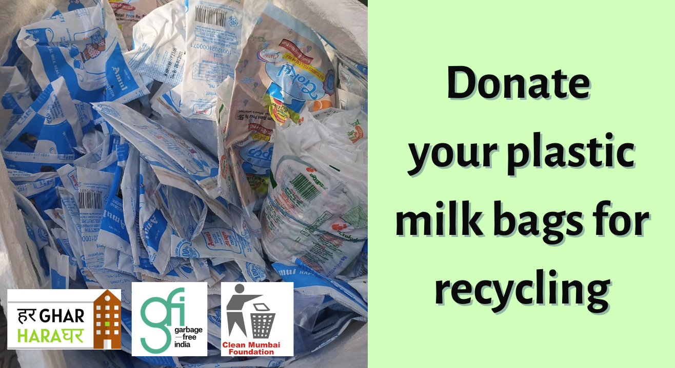 Donate your plastic milk bags for recycling