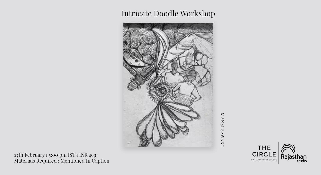 Intricate Doodle Workshop by Rajasthan Studio