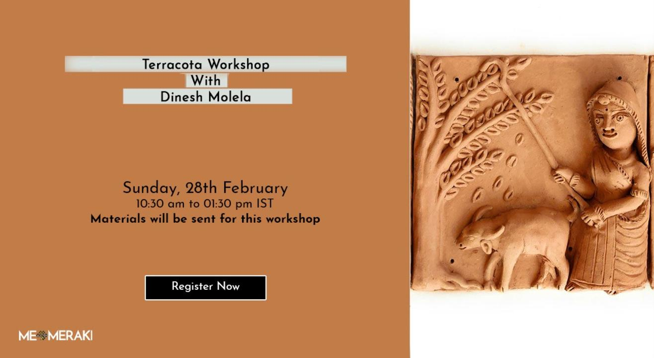 ONLINE TERRACOTTA WORKSHOP WITH DINESH MOLELA(WITH MATERIALS)