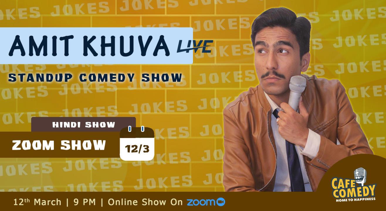 Amit Khuva Live On Zoom (Hindi Standup Comedy)