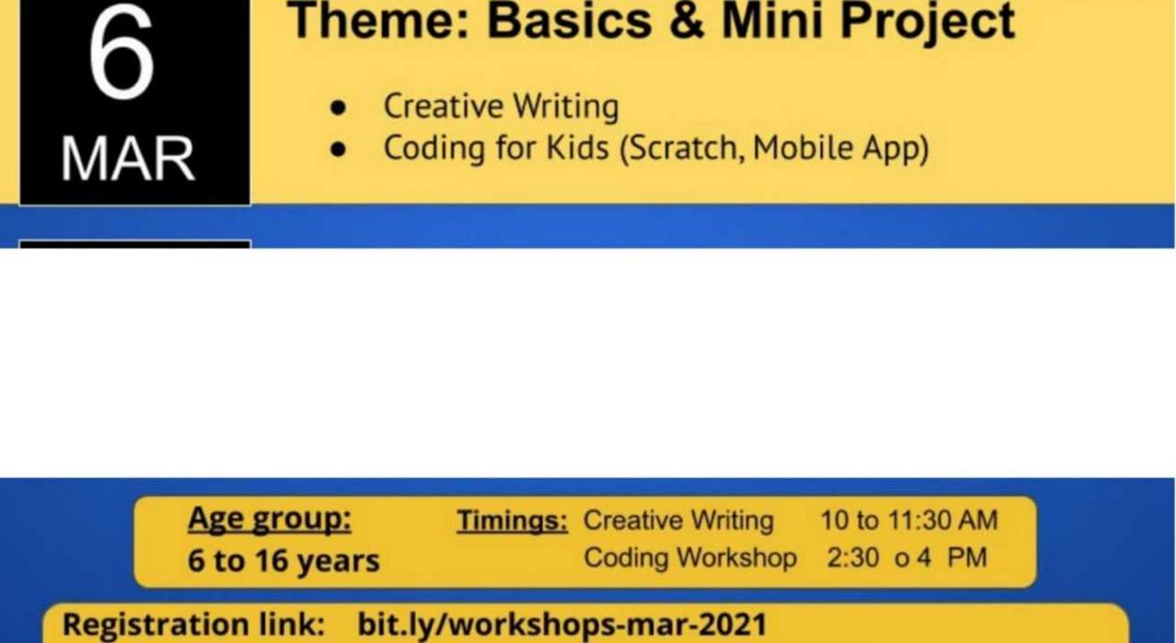 Creative Writing | Coding | Mobile Application Development Events for Kids & Teens
