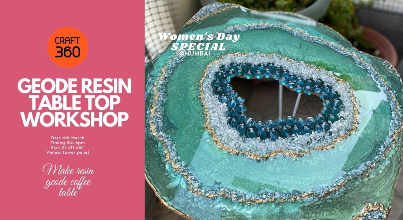 Geode Resin tabletop Workshop
