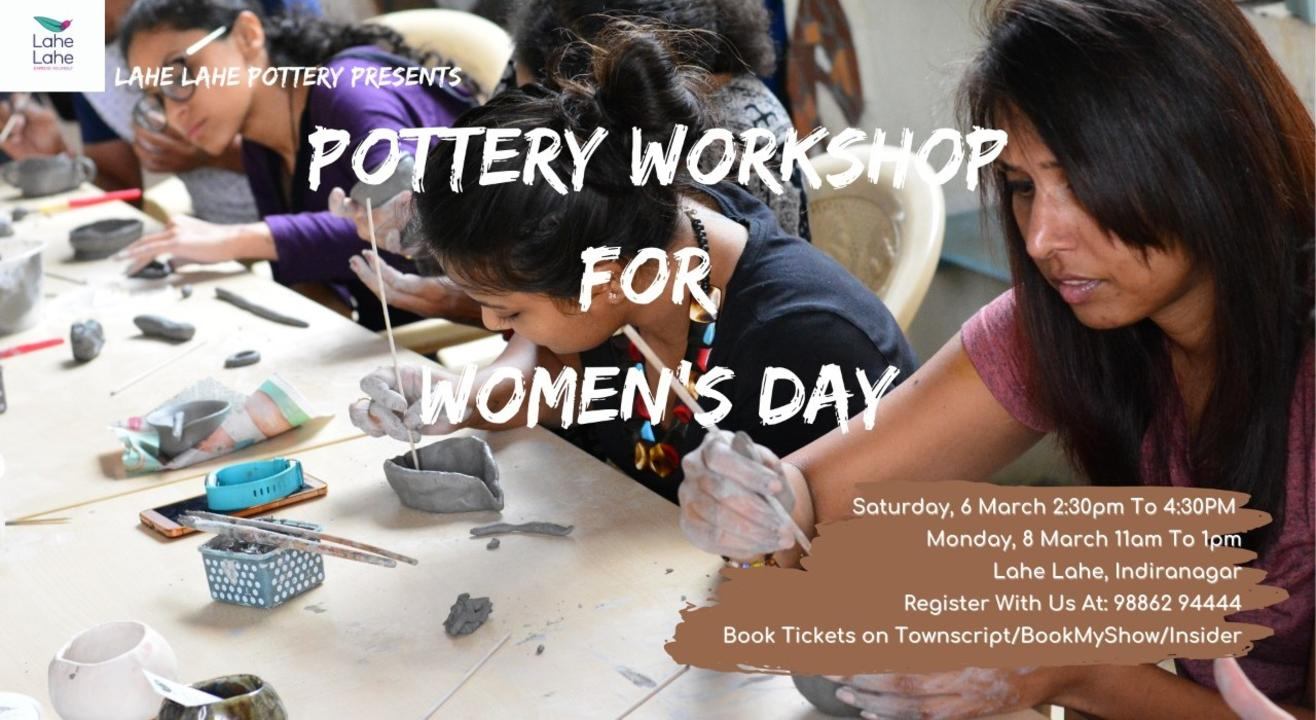 Pottery Workshop for Women on Women's Day
