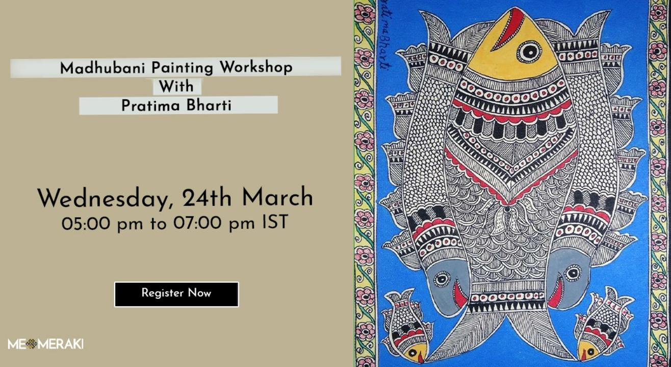ONLINE MADHUBANI ART WORKSHOP WITH PRATIMA BHARTI