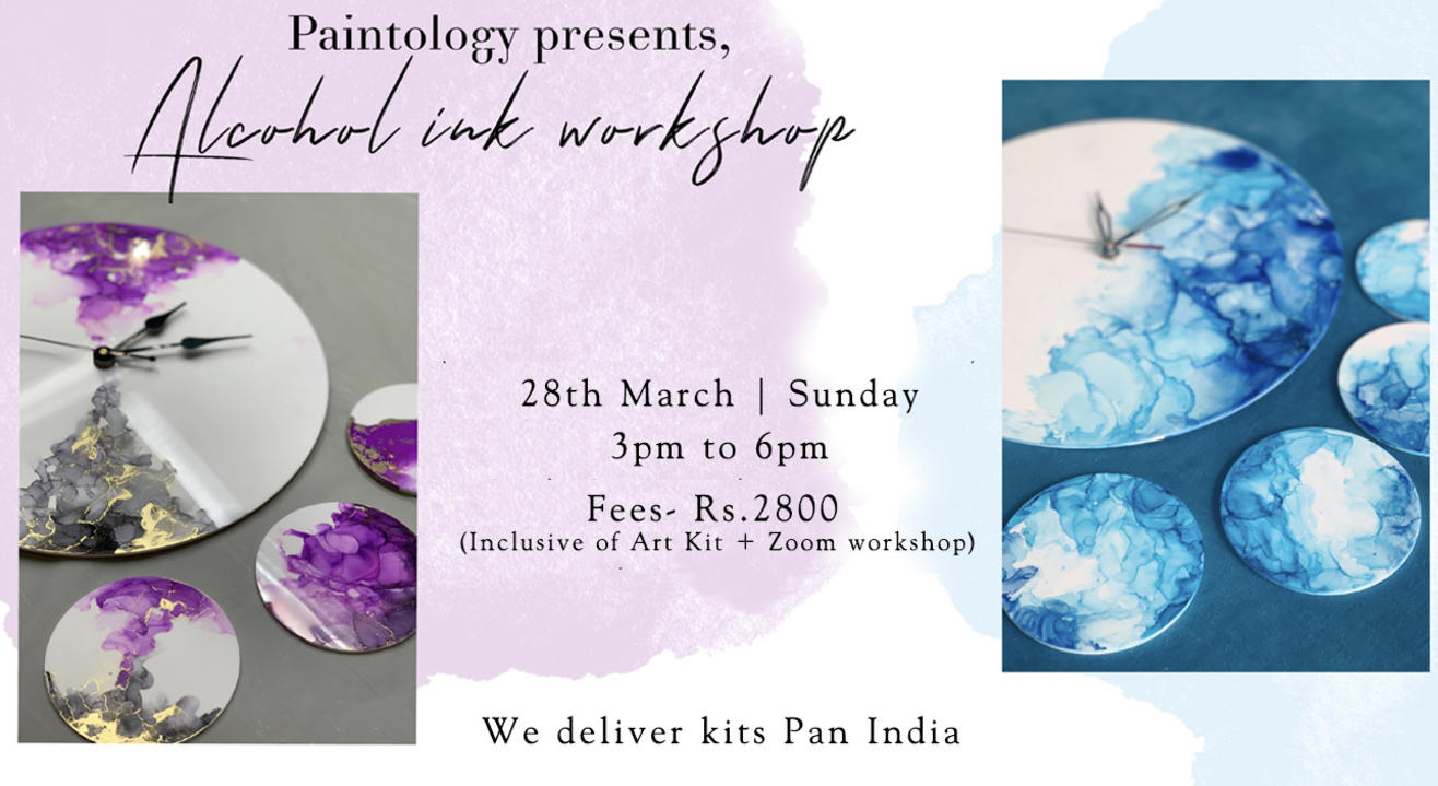28th March – Alcohol Ink workshop with Kit (Pan India)