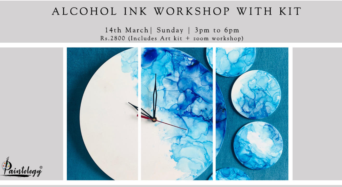 14th March – Online Alcohol Ink workshop with Kit