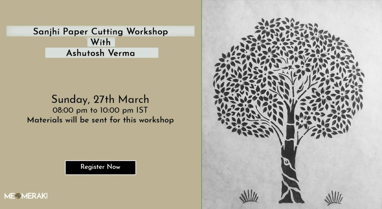ONLINE SANJHI  WORKSHOP WITH WITH ASHUTOSH(WITH MATERIALS)