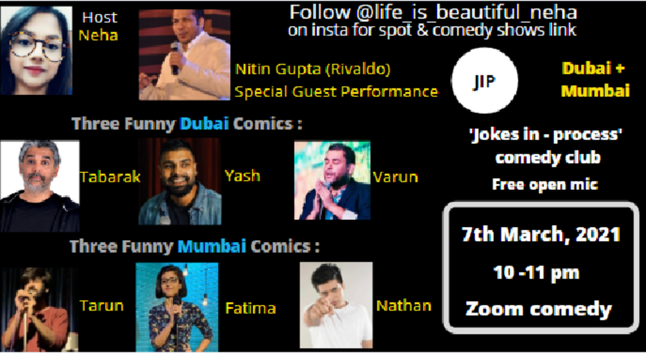 life_is_beautiful_neha on instagram (JIP Comedy Club)
