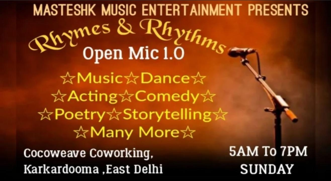 The Platform For Artists ( Rhyems & Rhythems ) - Masteshk Open Mic ( Delhi Open Mic Event )