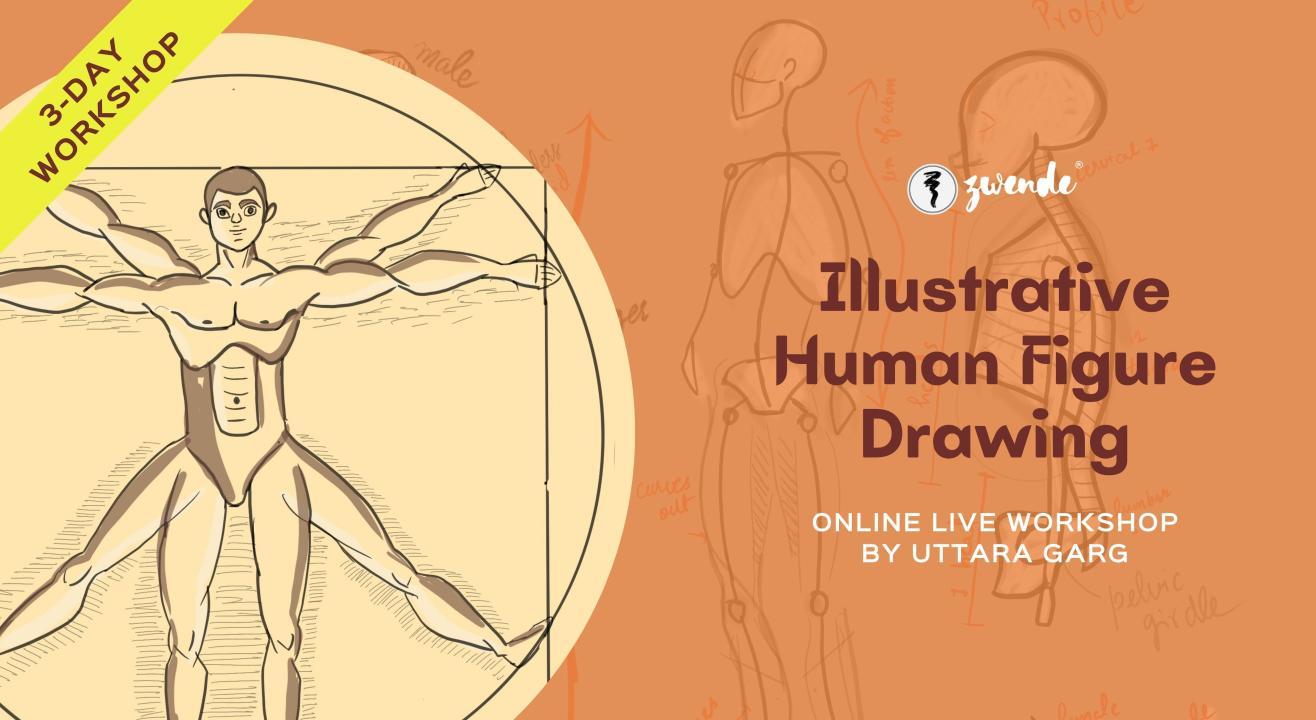 Illustrative Human Figure Drawing [3 Days Online Live Masterclass]