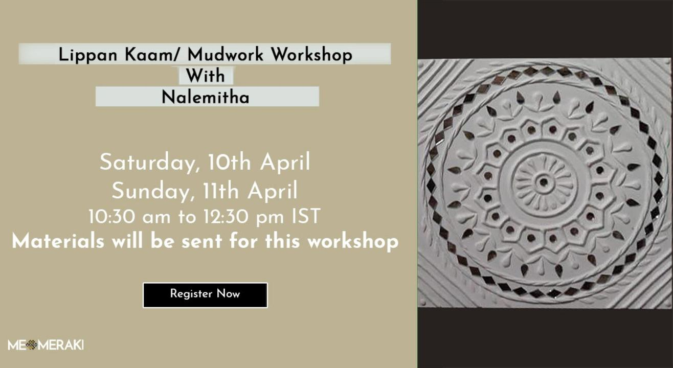 ONLINE LIPPAN KAAM WORKSHOP BY NALEMITHA (WITH MATERIALS