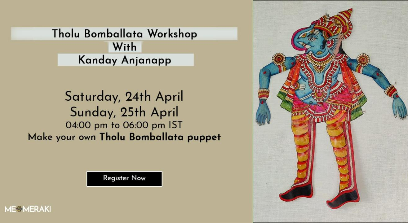 ONLINE THOLU BOMMALATA WORKSHOP WITH KANDAY ANJANAPP