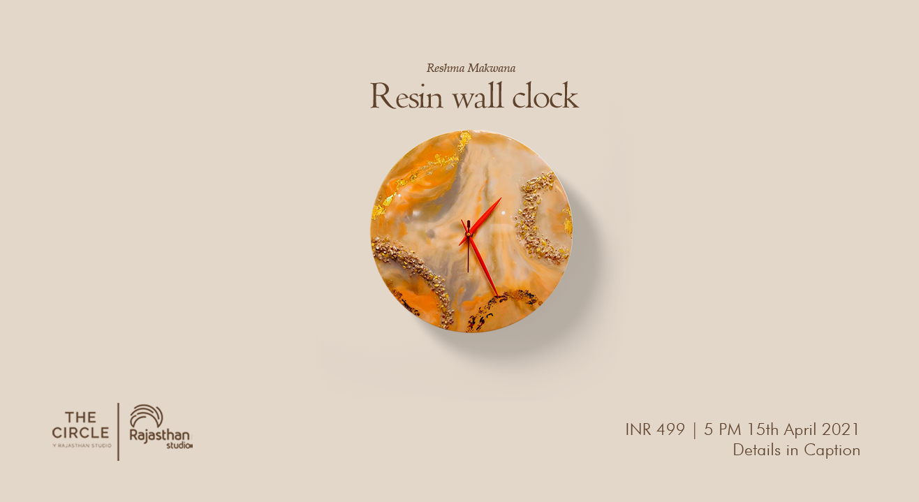 Resin Wall Clock Workshop by Rajasthan Studio
