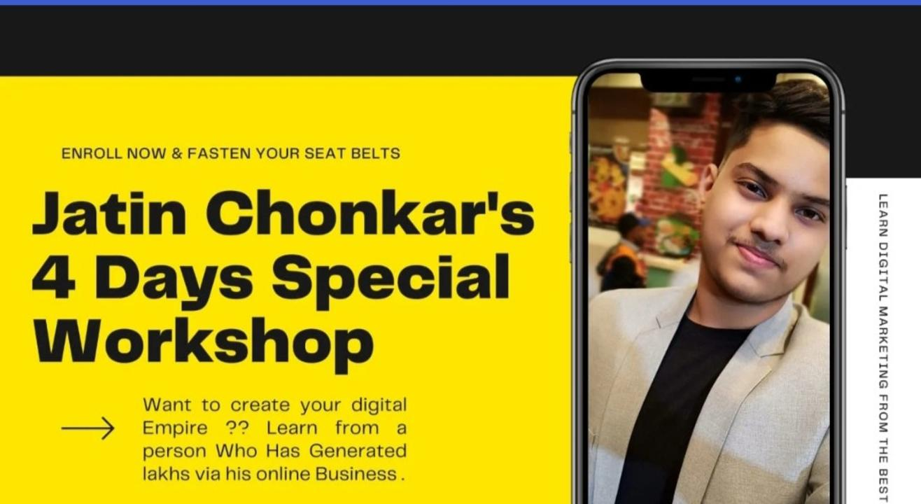 JATIN CHONKAR'S 4 DAYS WORKSHOP
